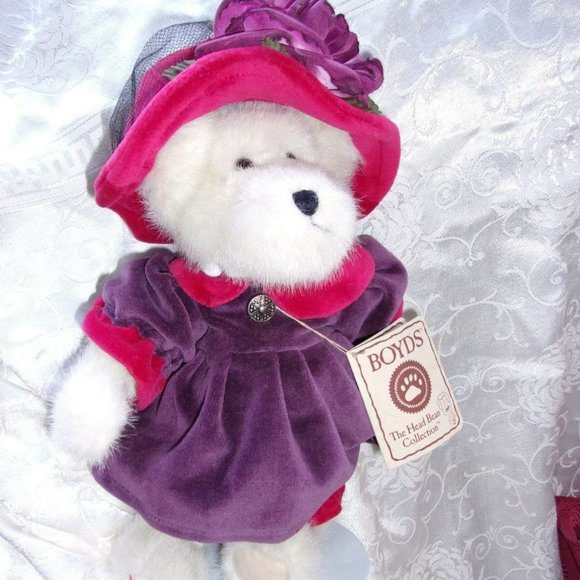 Boyds bear teddy bear collectible w tag Ms. rouge